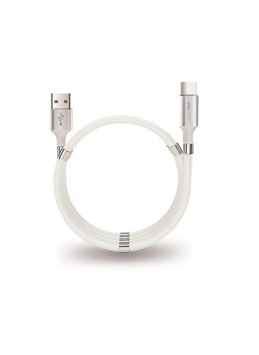 Polo Smart Polo Smart Psm67 Type C Mıknatıslı Sarmal 1 m Şarj Ve Data Kablosu Beyaz
